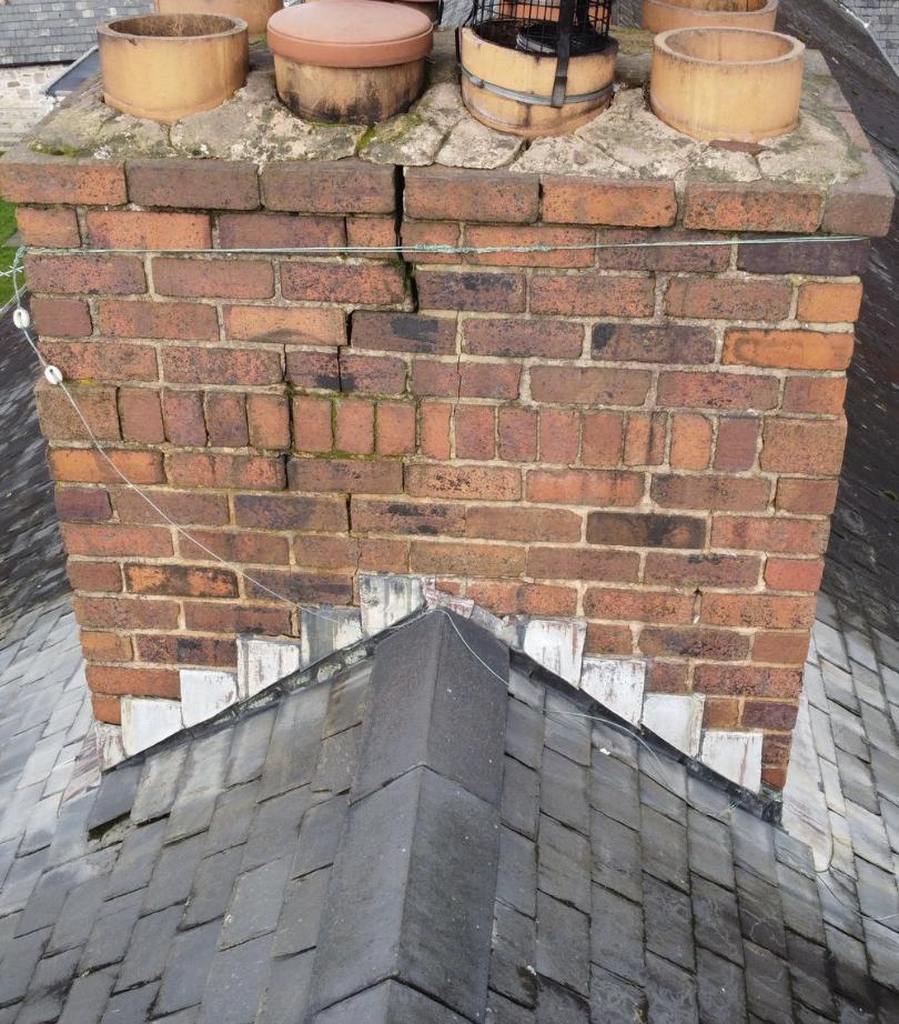Damaged Chimney Capture | Skylance Media